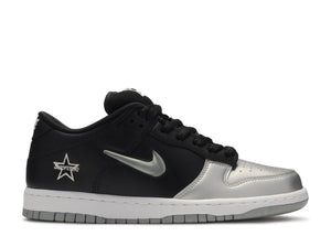 Nike SB x Supreme Dunk Low 'Metallic Silver'