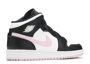 Air Jordan 1 Mid 'White Light Arctic Pink' (GS)