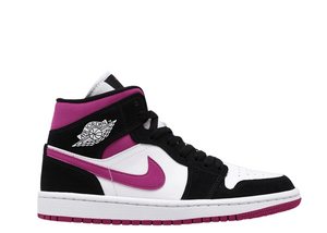 Air Jordan 1 Mid 'Black Cactus Flower Magenta' (W)