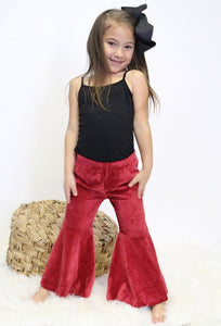 Little Lady in Red Flares