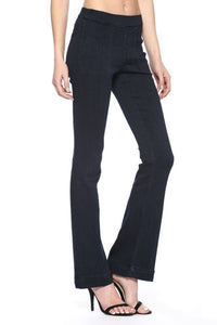 Mid Rise Dark Wash Flare Jeggings
