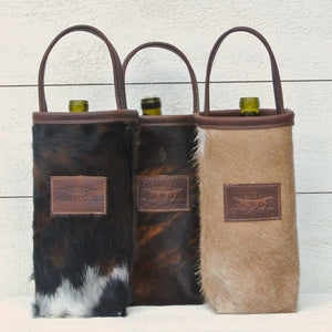 Hair-On Wine Tote by Canoe