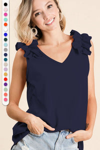 The Amber Top in Navy