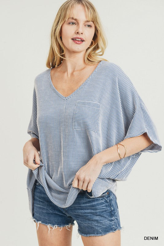 The Jemma Top in Denim