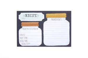One Canoe Two - Mason Jar Recipe Card (Set Of 15 Cards, No Dividers)