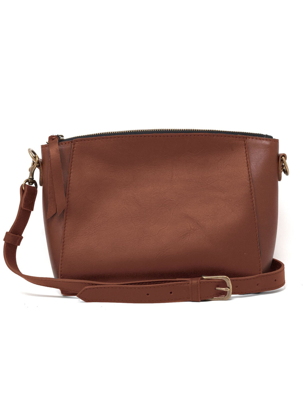 The Cecilia Zip Crossbody in Whiskey by ABLE