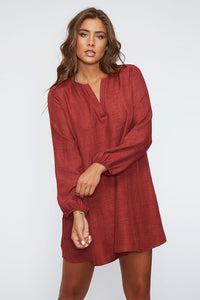 The Janet Dress in Burgundy