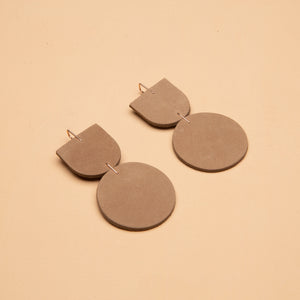 The Mocu Earrings in Sandstone