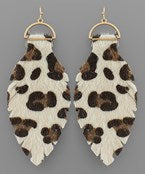 Leopard Leaf Earrings