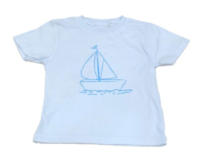 Sailboat Tee in Blue by Mustard and Ketchup Kids