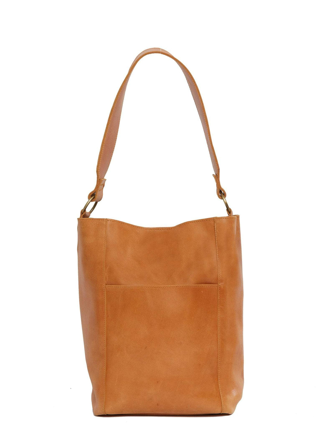 The Mihiret Bucket Bag in Cognac by ABLE