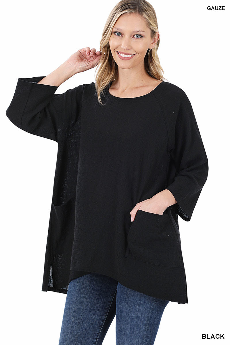 The Anna Top in Black