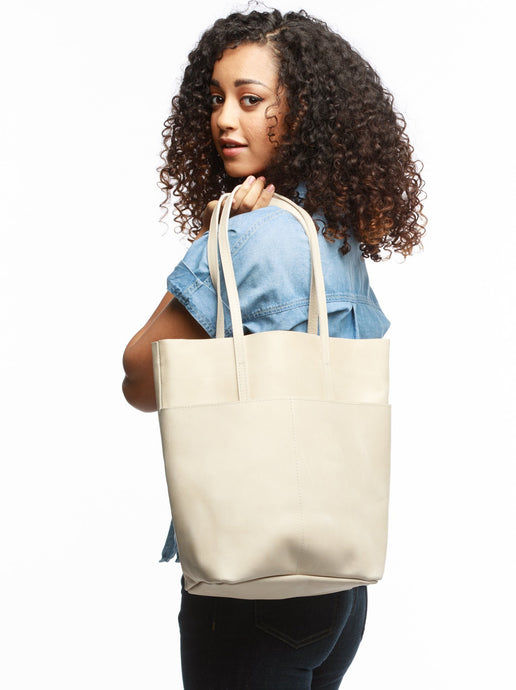The Selam Magazine Tote in Bone by Able