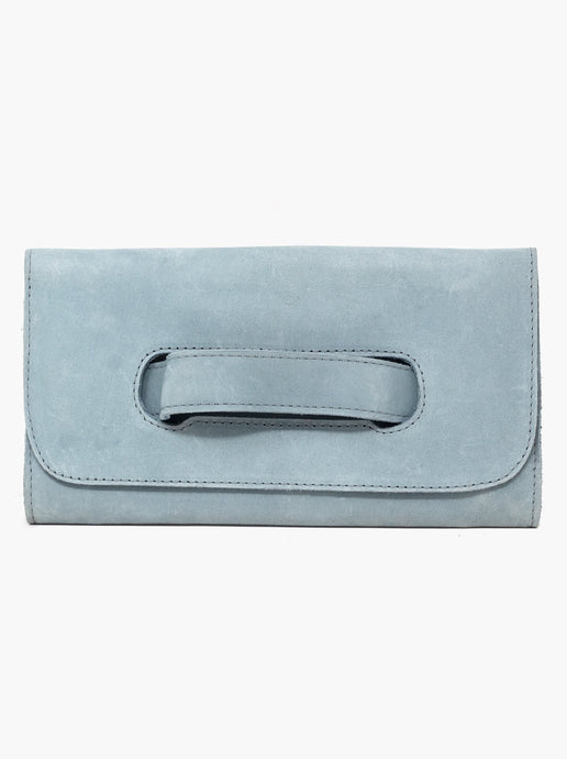 The Mare Handle Clutch in Ice Blue by ABLE