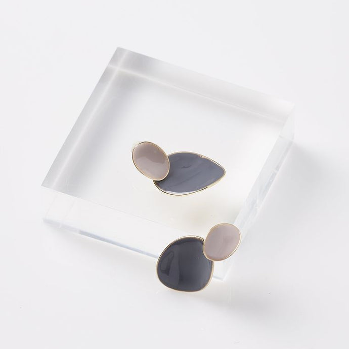 Grey Slipper Earrings