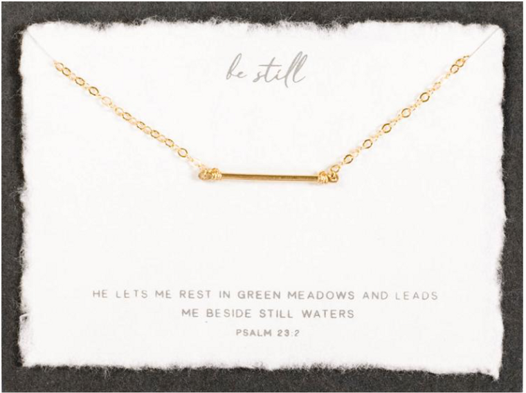 Be Still Necklace in Sterling Silver by Dear Heart
