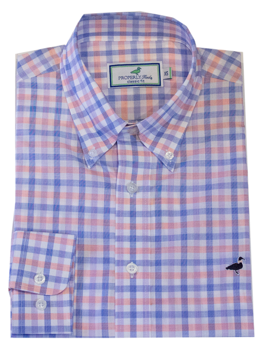 Men's Sportshirt in Santorini Peach by Properly Tied