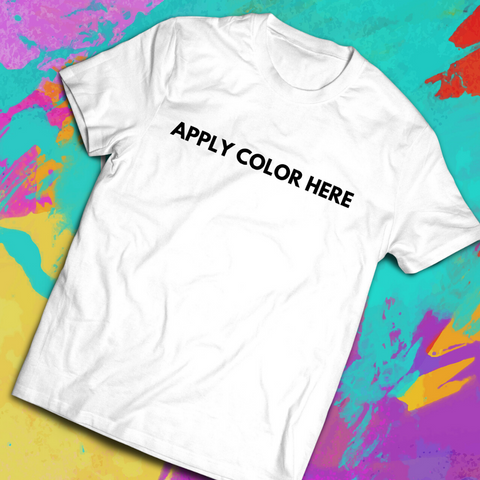 Apply Color Here Holi Men's Tee