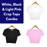 Women's Plain Crop Tops Combo