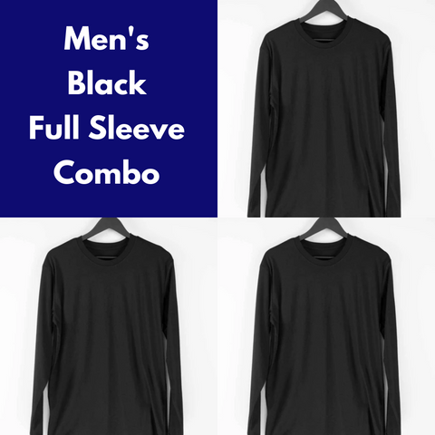 Men's Plain Full Sleeve Tee Combo