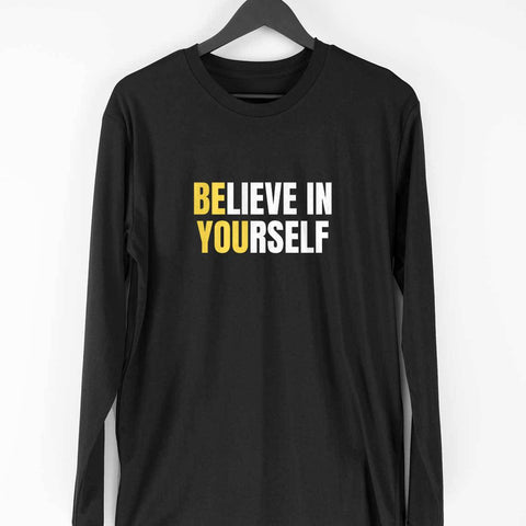 Believe in Yourself Men's Full Sleeve Tee - Shor Bazaar