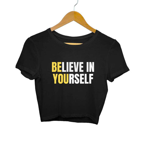 Believe in Yourself Women's Crop Top - Shor Bazaar