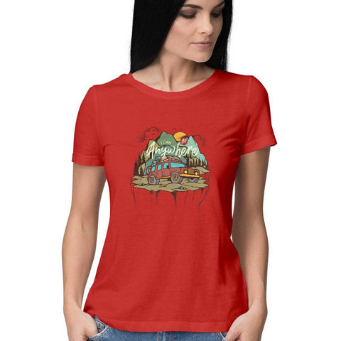 Anywhere Women's Half Sleeve Tee - Shor Bazaar