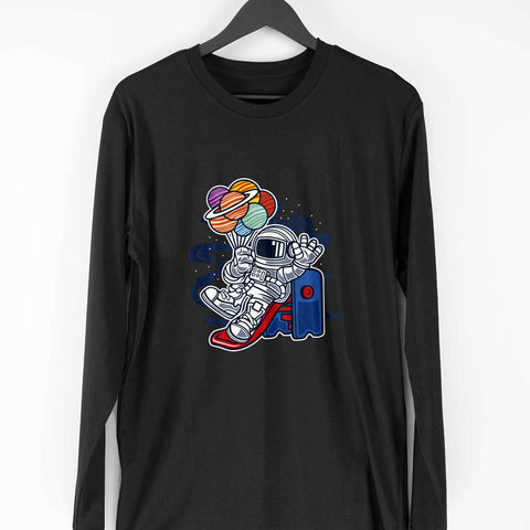 Astronaut Men's Full Sleeve Tee - Shor Bazaar