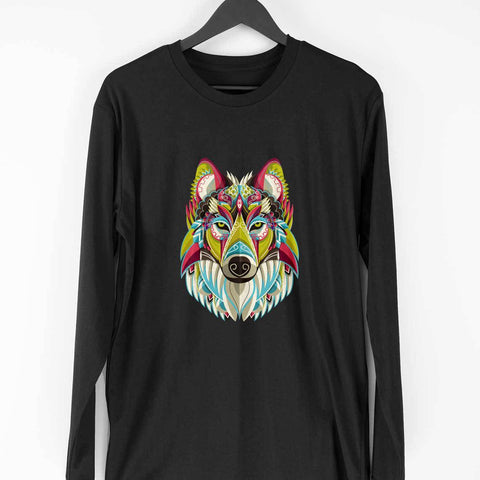 Wolf Men's Full Sleeve Tee - Shor Bazaar