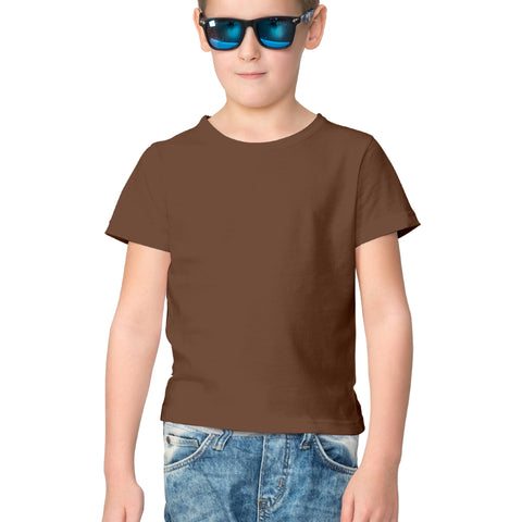 Plain Half Sleeve Tees for Kids