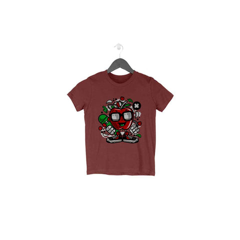 Apple Half Sleeve Tee for Toddlers