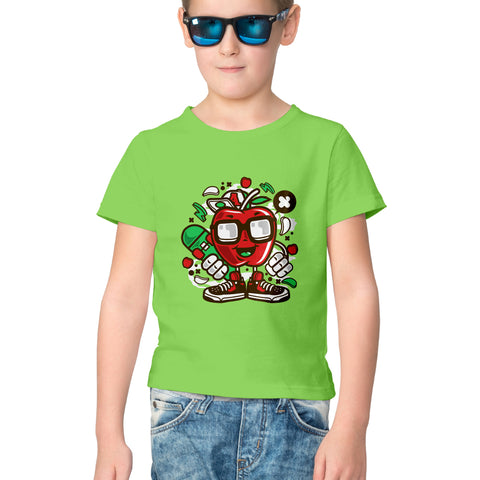 Apple Half Sleeve Tee for Kids