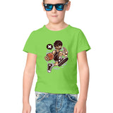 Basketball Dude Half Sleeve Tee for Kids