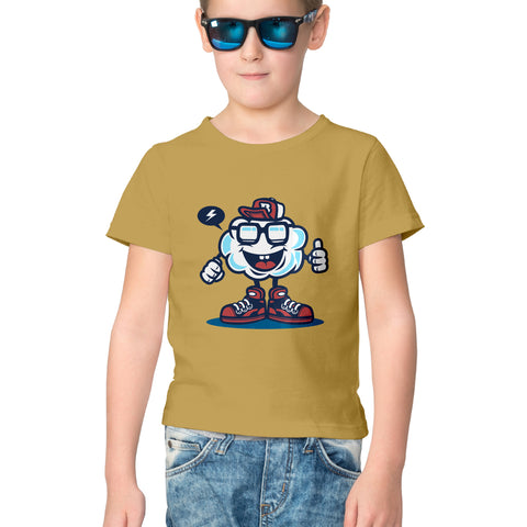 Cool Cloud Half Sleeve Tee for Kids