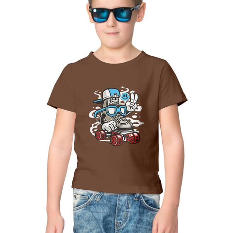 Smart Skater Half Sleeve Tee for Kids