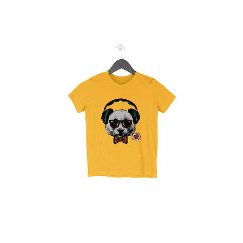 Headphone Dog Half Sleeve Tee for Toddlers