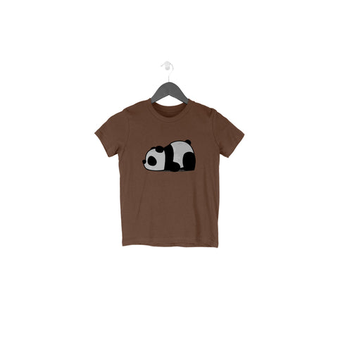 Lazy Panda Half Sleeve Tee for Toddlers