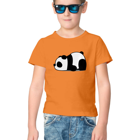 Lazy Panda Half Sleeve Tee for Kids