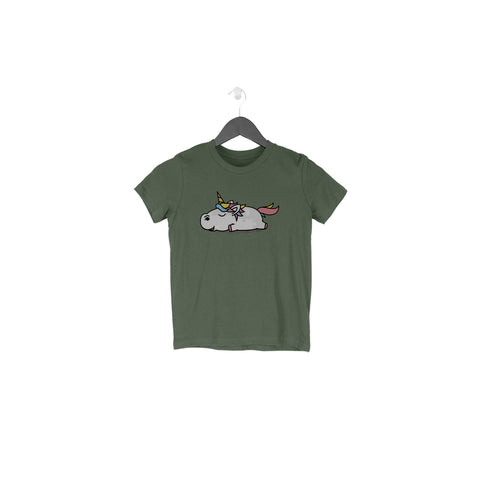 Lazy Unicorn Half Sleeve Tee for Toddlers