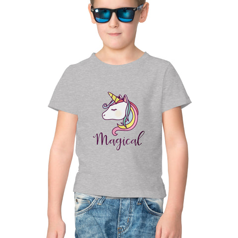 Unicorn Half Sleeve Tee for Kids