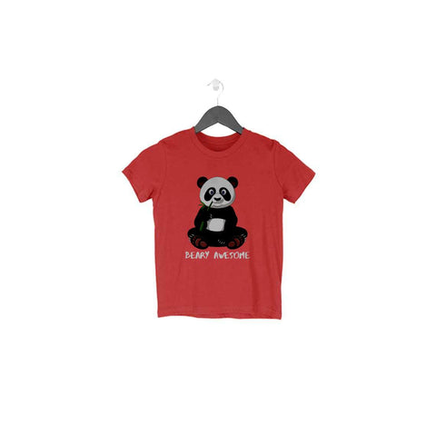 Panda Half Sleeve Tee for Toddlers