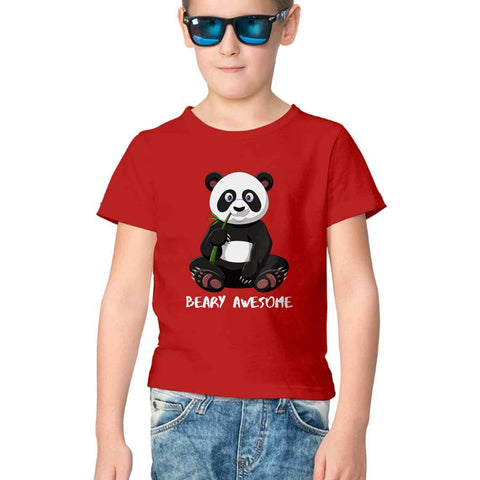Panda Half Sleeve Tee for Kids