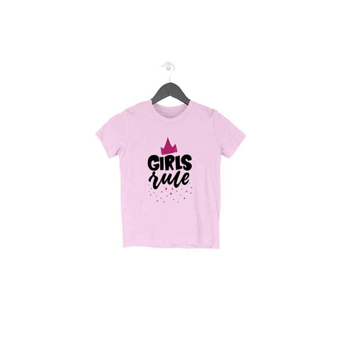 Girls Rule Half Sleeve Tee for Toddlers