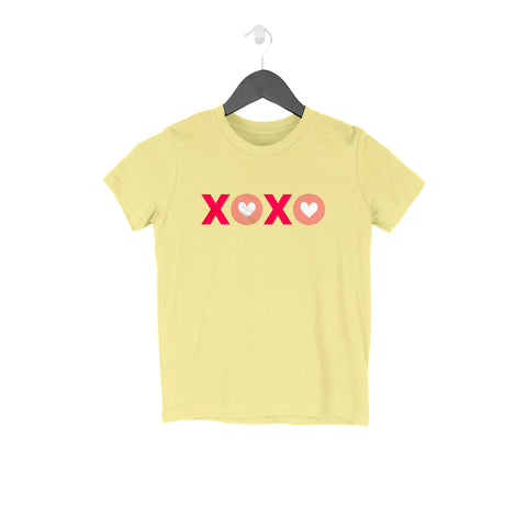 XOXO Half Sleeve Tee for Kids