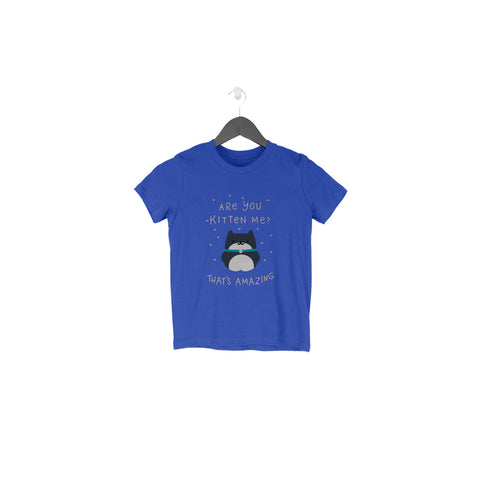 Are You Kitten Me Half Sleeve Tee for Toddlers