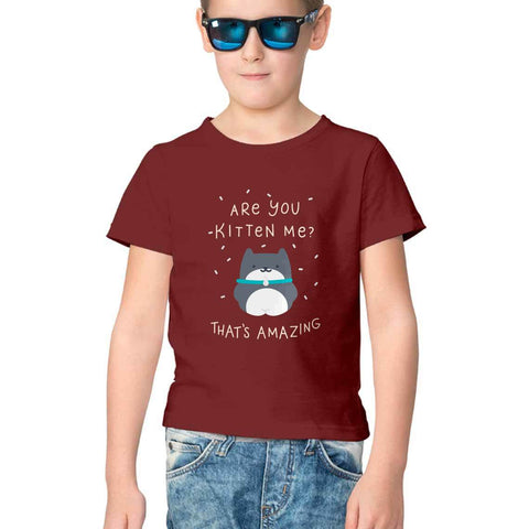 Are You Kitten Me Half Sleeve Tee for Kids