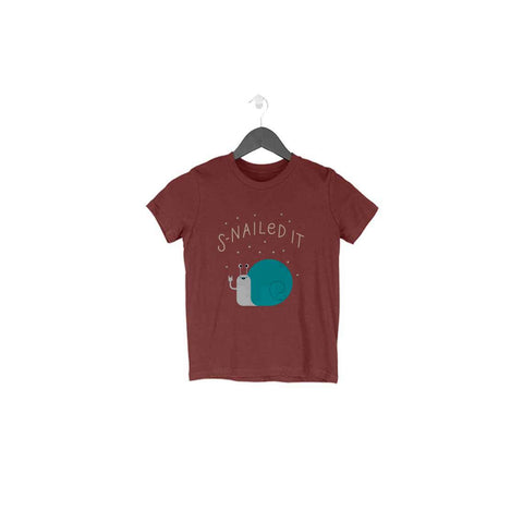 Snailed It Half Sleeve Tee for Toddlers