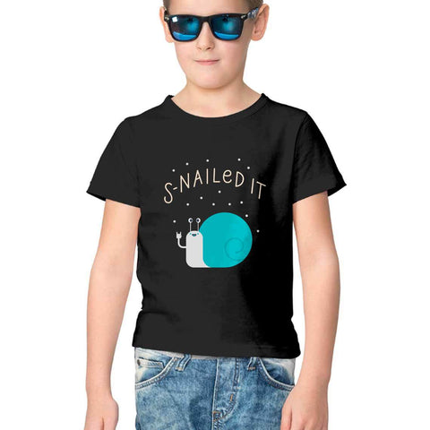 Snailed It Half Sleeve Tee for Kids