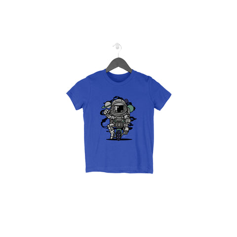 Biker Astronaut Half Sleeve Tee for Toddlers
