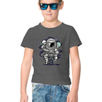Biker Astronaut Half Sleeve Tee for Kids